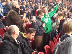 Publiek Blindentribune Nederlands elftal