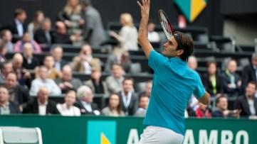 Roger-Federer-tijdens-het-inspelen-Ahoy-Fotografie-Roald-Sekeris