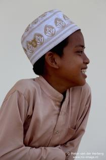 Boy cap and shirt side