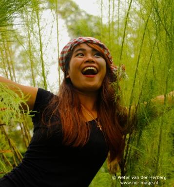 green bush smile