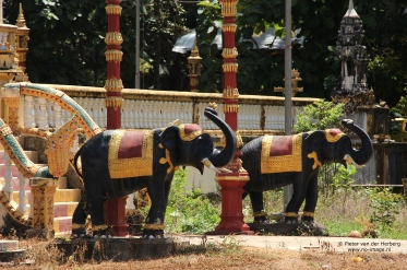 Pagoda elephants