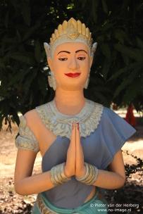 Pagoda statue folded hands