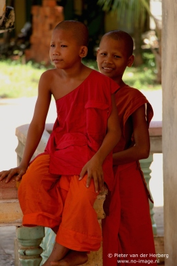 Pagoda two monks sitting together