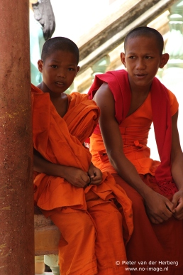 Pagoda two monks younger and older